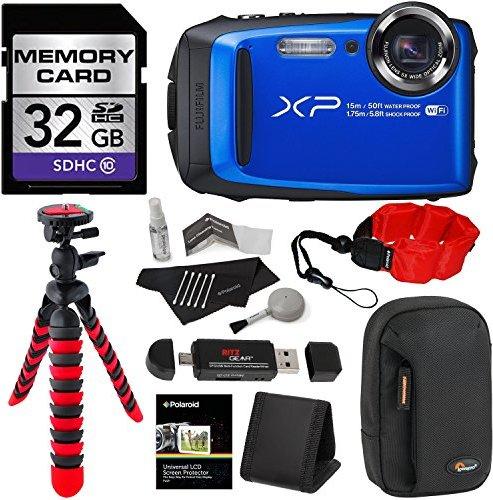 Fujifilm FinePix XP90 Waterproof digital camera (Blue), 32GB