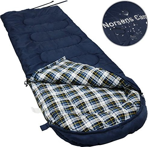 Norsens Flannel Lightweight Camping Backpacking Sleeping Bag Fits